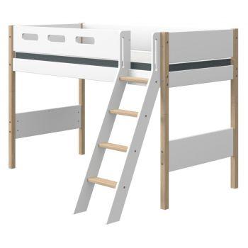 Kaldredeliga kõrgem-poolkõrge voodi Flexa NOR