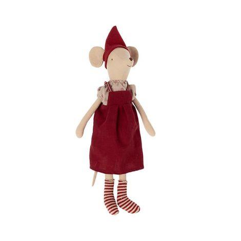 Maileg Medium jõuluhiir - tüdruk (AW21)