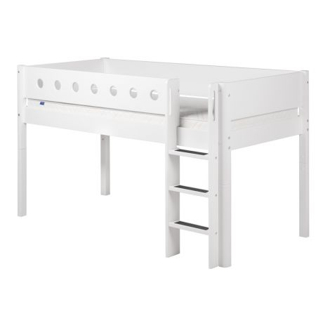 Poolkõrge voodi Flexa White