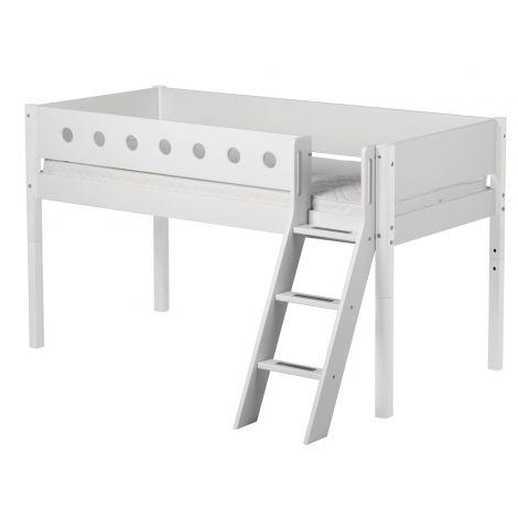 Kaldredeliga poolkõrge voodi Flexa White
