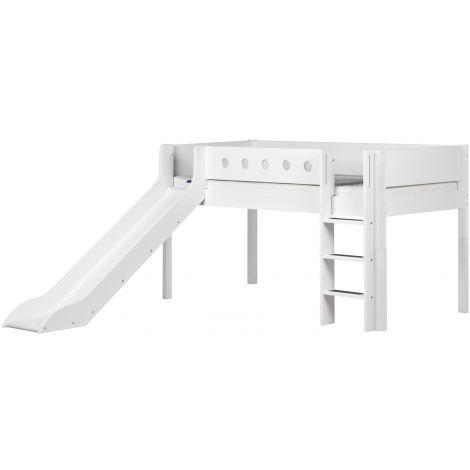 Liumäega poolkõrge voodi Flexa White
