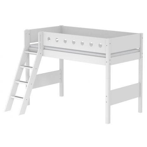 Kaldredeliga kõrgem-poolkõrge voodi Flexa White
