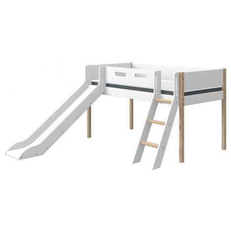 Liumäega ja kaldredeliga poolkõrge voodi Flexa NOR