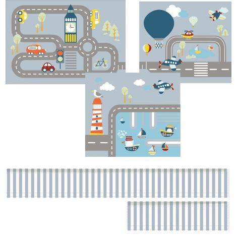 Mängukardinad Transport (pikendusega)