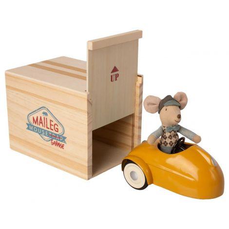 Maileg auto koos hiire ja garaažiga