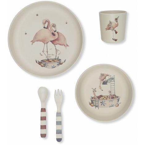 Toidunõudekomplekt Flamingo