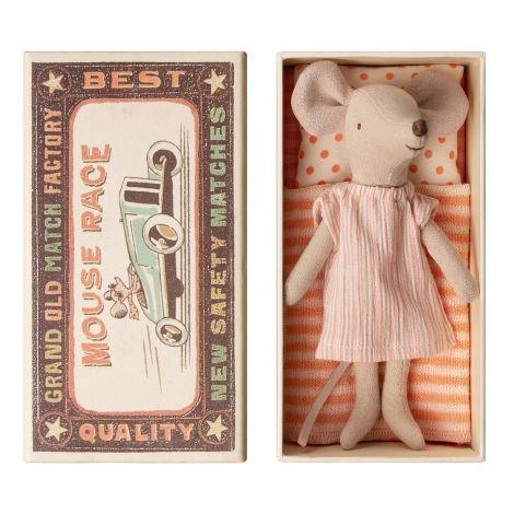 Maileg hiir - uneriietes Suur Õde tikutoosis