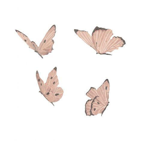 Seinakleebised (4 tk) - Butterflies Dusty Rose