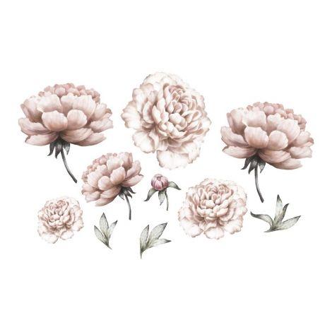 Seinakleebised - Peony flowers