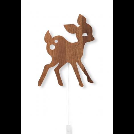 Seinalamp hirv Bambi-Suitsutatud tamm